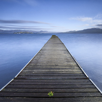 Buy canvas prints of Cruin Jetty Loch Lomond by Fine Art by John Farnan