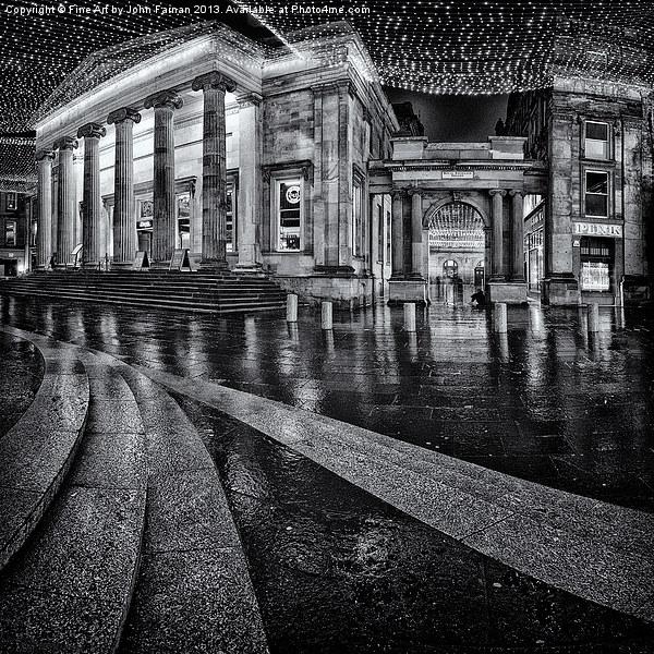 Royal Exchange Square Glasgow Canvas print by Fine Art by John Farnan