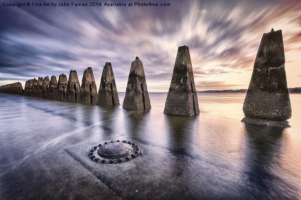 Sunrise at Cramond Canvas print by Fine Art by John Farnan