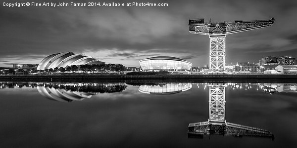 Finnieston Crane by night Canvas print by Fine Art by John Farnan