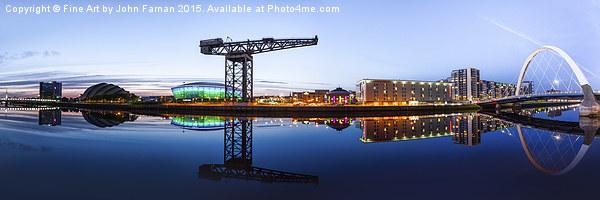 Glasgow Riverside Panorama Canvas print by Fine Art by John Farnan