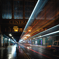 Buy canvas prints of heilanman's umbrella at night by John Farnan