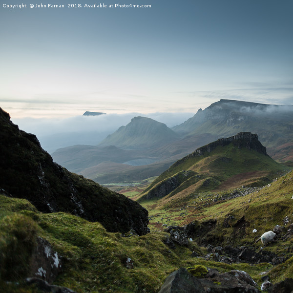 Trotternish Ridge from the Quiraing Canvas print by John Farnan