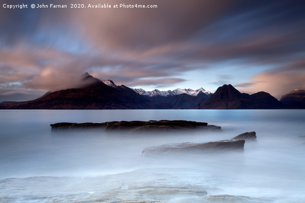 Black Cuillin from Elgol Canvas print by John Farnan