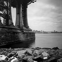 Buy canvas prints of Under the Manhattan bridge by John Farnan