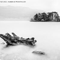 Buy canvas prints of Tarbet Isle Loch Lomond monochrome by John Farnan