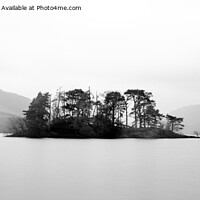 Buy canvas prints of Tarbet Isle Loch Lomond monochrome panorama by John Farnan
