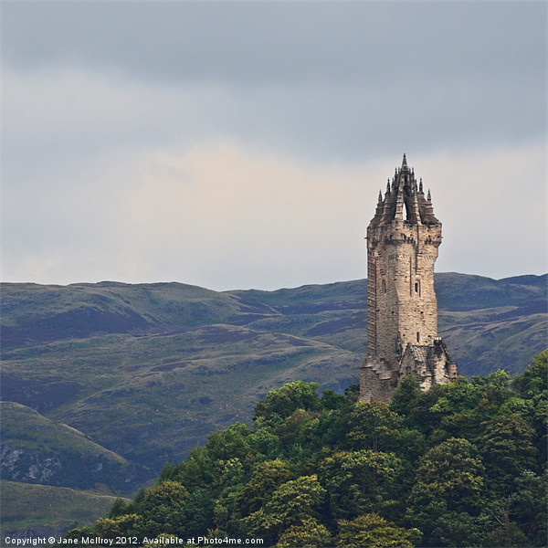 Wallace Monument, Stirling Canvas Print by Jane McIlroy