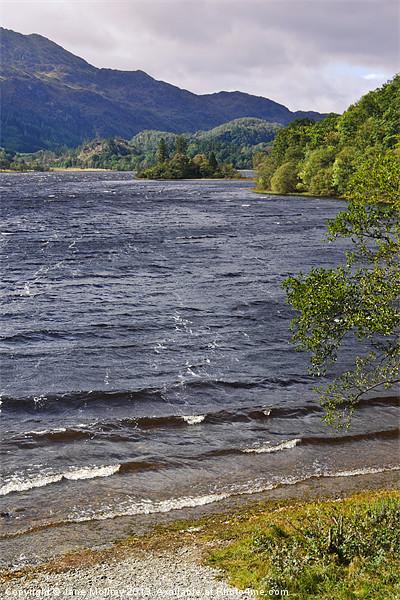 Loch Achray, The Trossachs, Scotland Canvas print by Jane McIlroy