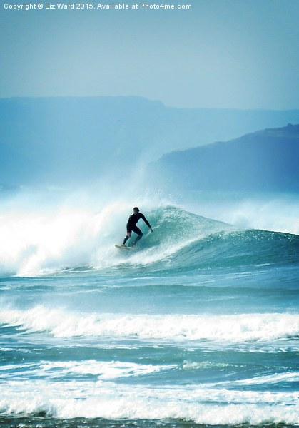 Surfing  Canvas print by Liz Ward
