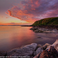 Buy canvas prints of Portencross Sunset by Paul Messenger