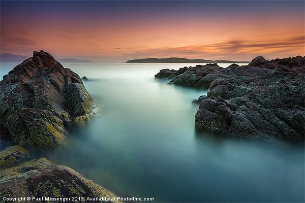 Ayrshire Sunset Canvas print by Paul Messenger