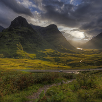 Buy canvas prints of The Three Sisters by Paul Messenger