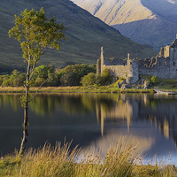 Buy canvas prints of   Kilchurn Castle by Paul Messenger