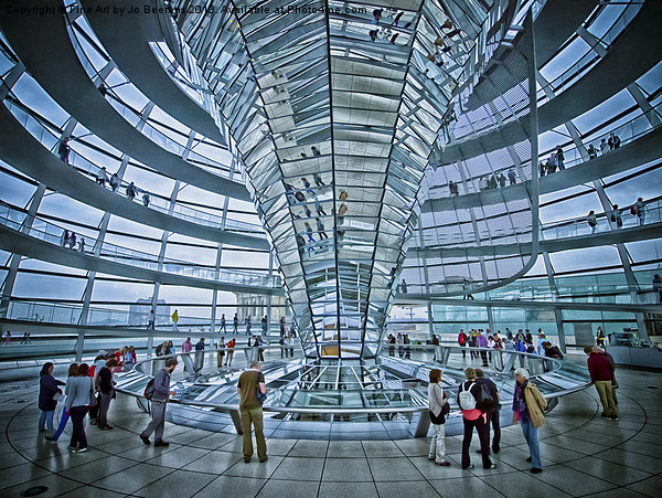 Reichstag dome Canvas print by Jo Beerens