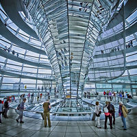 Buy canvas prints of Reichstag dome by Jo Beerens