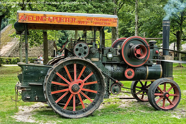 steam tractor Canvas print by Jo Beerens