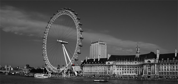 London Eye Black and White Canvas print by DSLR Creations