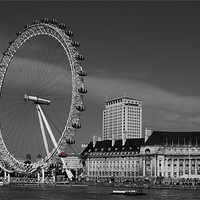 Buy canvas prints of London Eye Black and White by DSLR Creations
