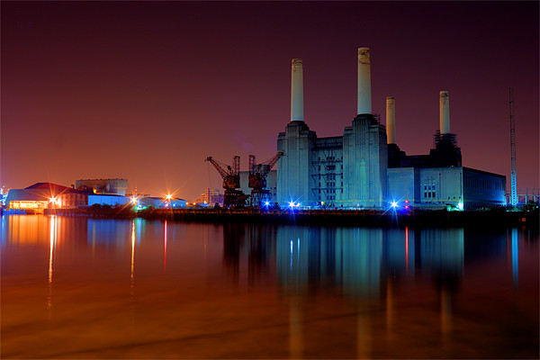 Battersea Power Station 2 Canvas Print by DSLR Creations