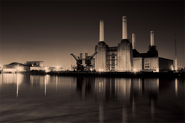 battersea Power Station Toned Canvas print by DSLR Creations