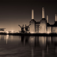 Buy canvas prints of battersea Power Station Toned by DSLR Creations