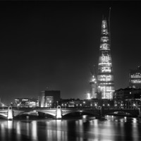 Buy canvas prints of shard at night by DSLR Creations