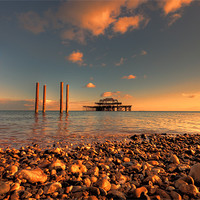 Buy canvas prints of Brighton West Pier at Sunset by DSLR Creations