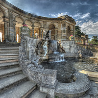 Buy canvas prints of Loggia and fountain by DSLR Creations
