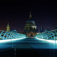 Buy canvas prints of St Pauls over Millennium by DSLR Creations