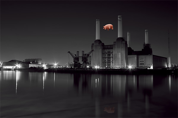 Battersea and Pig Canvas print by DSLR Creations