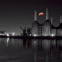 Buy canvas prints of Battersea and Pig by DSLR Creations
