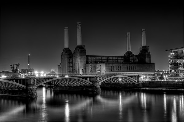 Battersea black and white Canvas Print by DSLR Creations