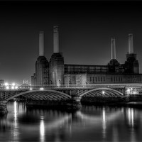 Buy canvas prints of Battersea black and white by DSLR Creations