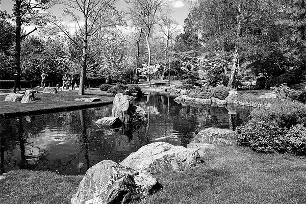 Kyoto water Garden Canvas print by DSLR Creations