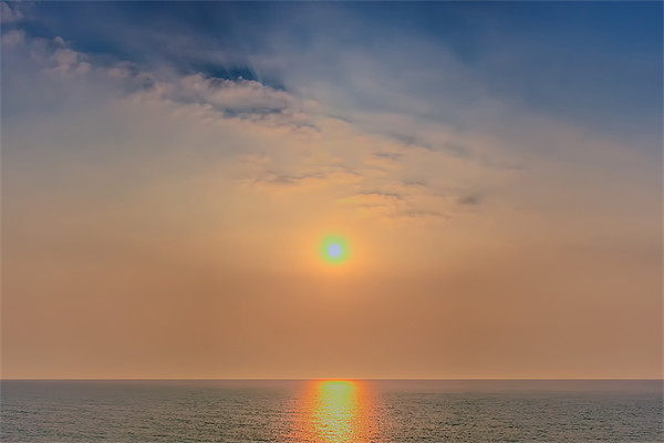Sun rise over the sea Canvas print by DSLR Creations