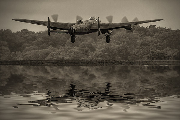 Departing Lancaster Canvas Print by DSLR Creations