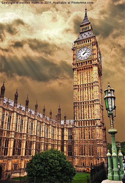 house of commons clock tower Canvas print by meirion matthias