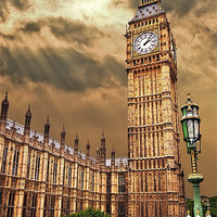 Buy canvas prints of house of commons clock tower by meirion matthias