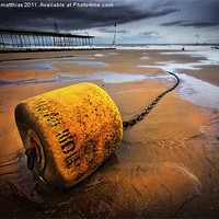 Buy canvas prints of yellow buoy by meirion matthias