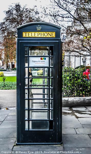 Black phone box in London Canvas print by Mandy Rice