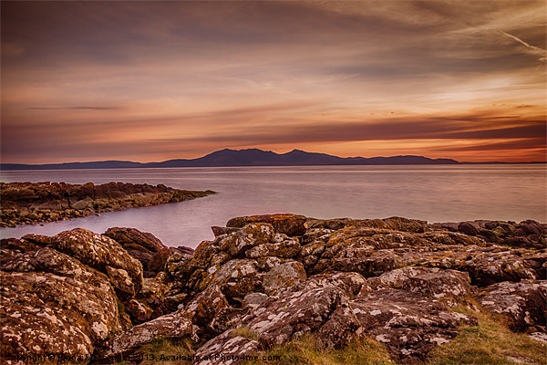 Arran Sunset Canvas print by Fiona Messenger