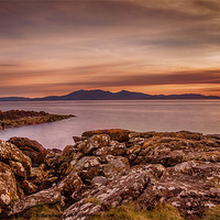 Buy canvas prints of Arran Sunset by Fiona Messenger