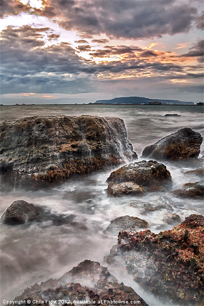 Rocks of the Nothe Canvas print by Chris Frost