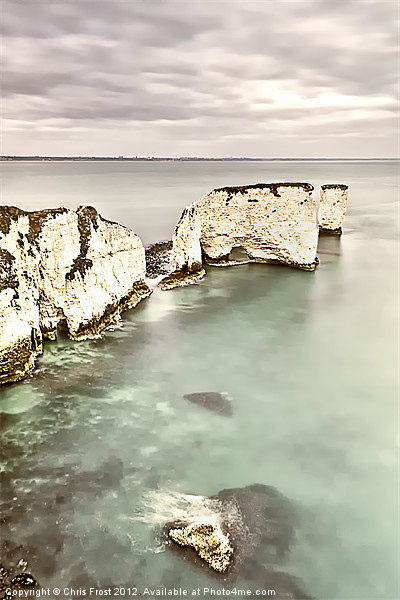 Old Harry Rocks Canvas print by Chris Frost