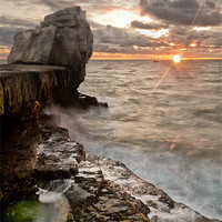 Buy canvas prints of Sun Blast at Pulpit by Chris Frost