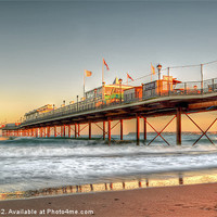 Buy canvas prints of Paigntn's Sun Kissed Pier by Chris Frost