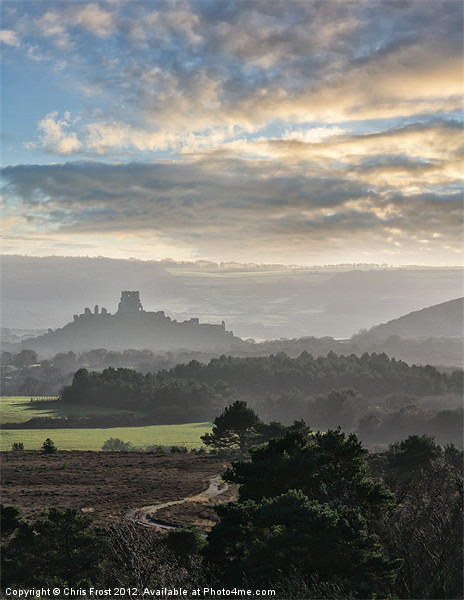 Road to the Castle Canvas print by Chris Frost