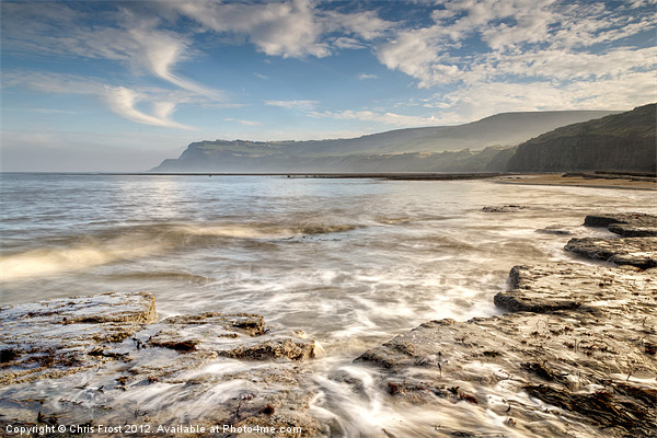 Robin Hoods Bay Breakers Canvas print by Chris Frost