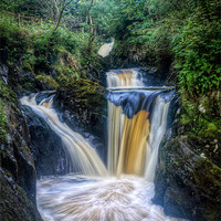 Buy canvas prints of Triple Pecca Falls by Chris Frost